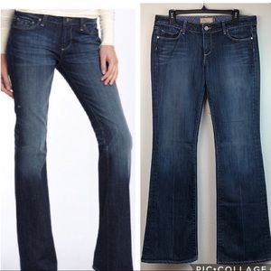 PAIGE Laurel Canyon low rise boot cut flared jeans